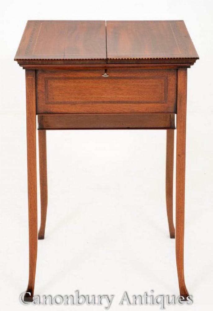 Sheraton Popup-Schreibtisch in Mahagoni