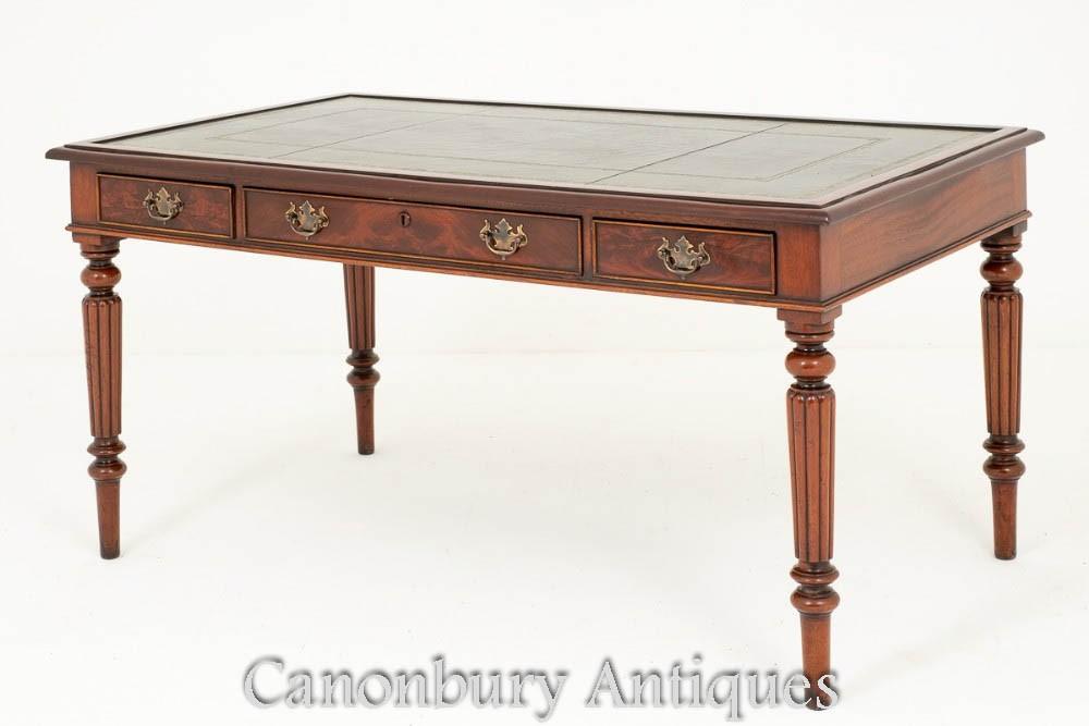 William IV Schreibtisch - antiker Mahagoni Schreibtisch William IV Schreibtisch - antiker Mahagoni Schreibtisch