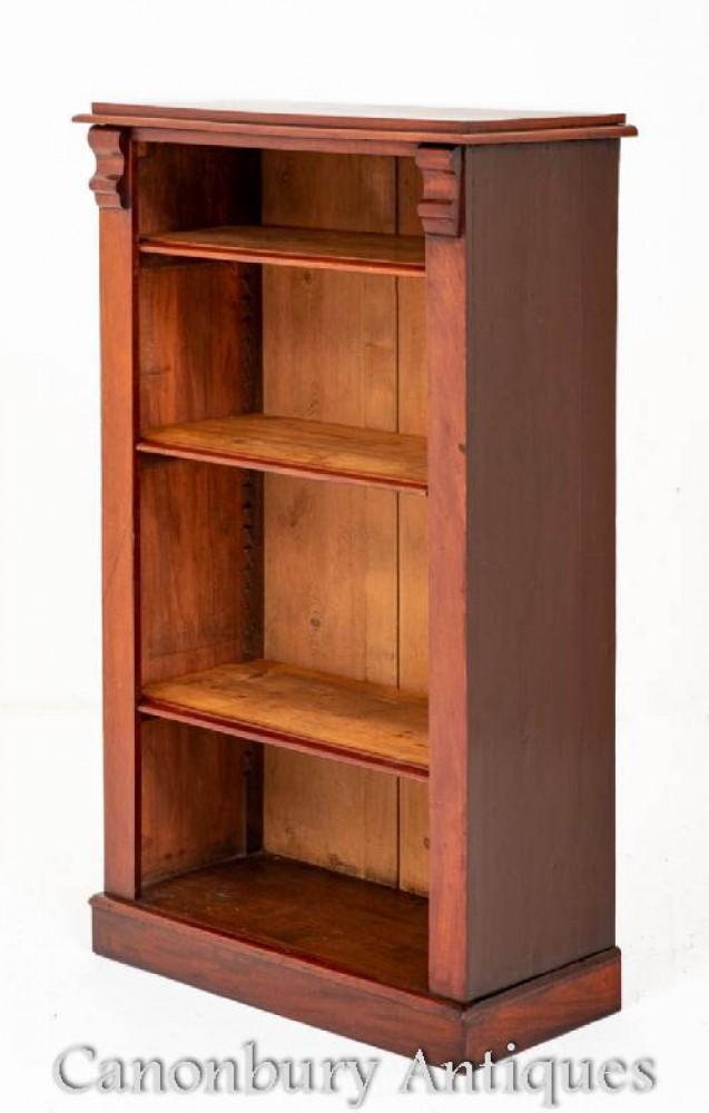 Antikes viktorianisches Bücherregal - Mahagoni Open Front 1860
