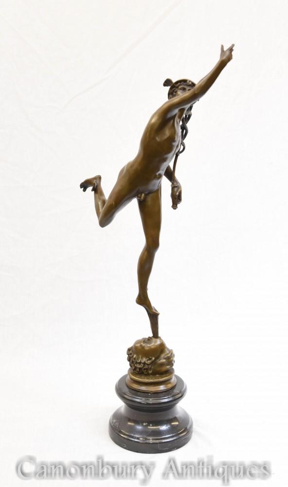 Bronze Fliegende Merkur Statue Hermes Giambologna