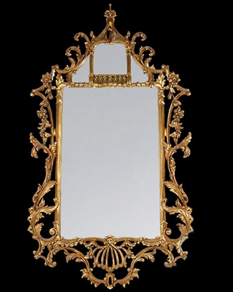 Chippendale Gilt Pier Mirror - Englischer Glassaalspiegel