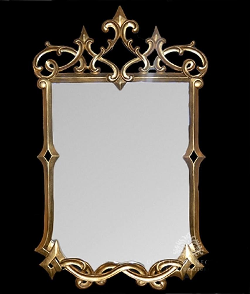Gilt Gothic Pier Mirror - Englische Glasspiegel