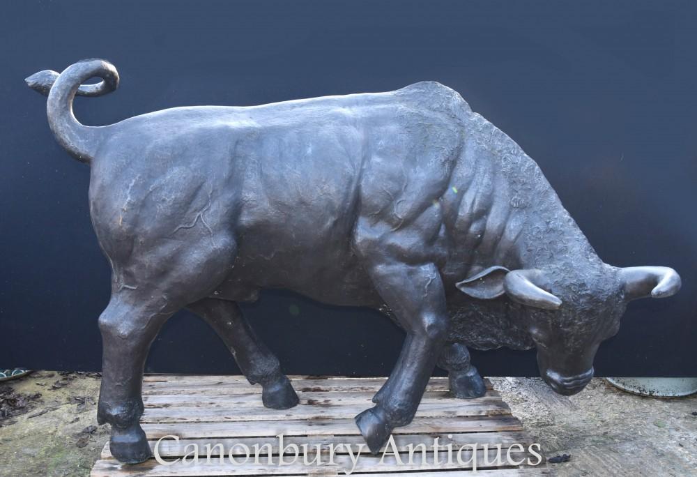 Riesige Bronze Bull Statue - Bullock Gartentiere