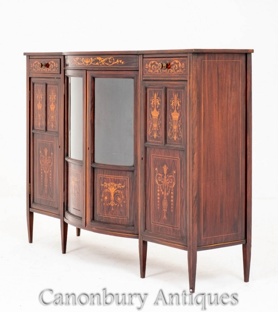 Sheraton Revival Cabinet Sideboard Edwards und Roberts 1880