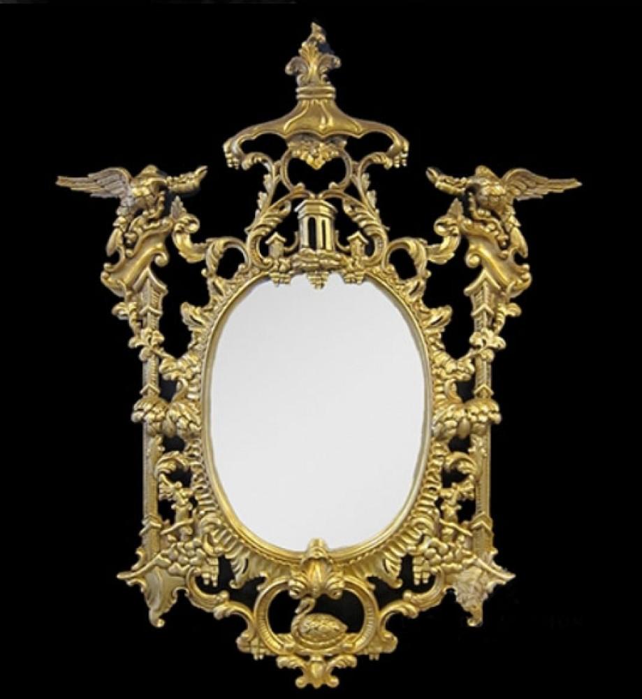 Vergoldeter Chippendale-Spiegel - Pier spiegelt verzierte Vögel wider