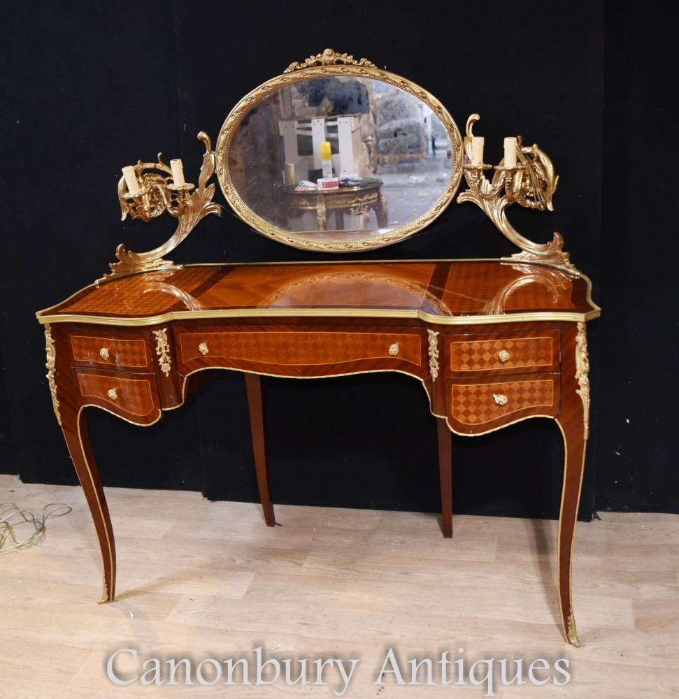 Empire Schminktisch - Parkett Französische Schreibtischspiegelleuchte