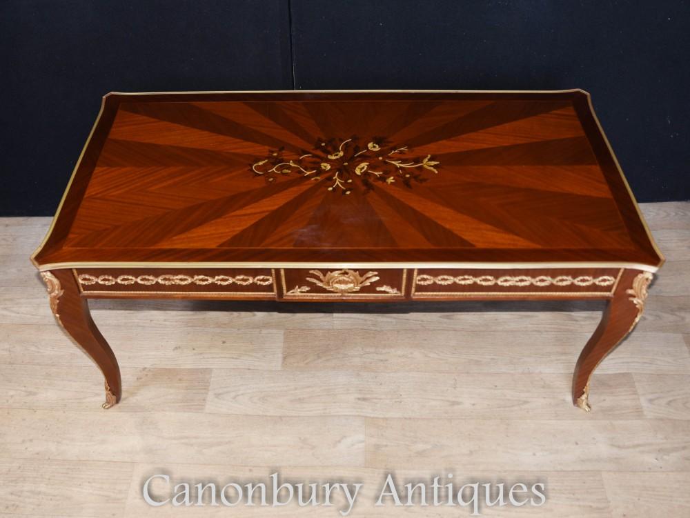 Französische Couchtische - Empire Marquetry Inlay