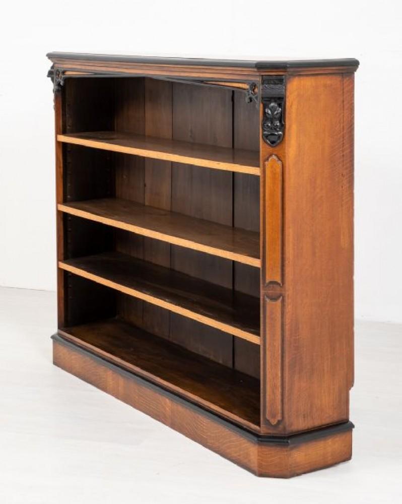 Victorian Oak Open Bookcase Circa 1860