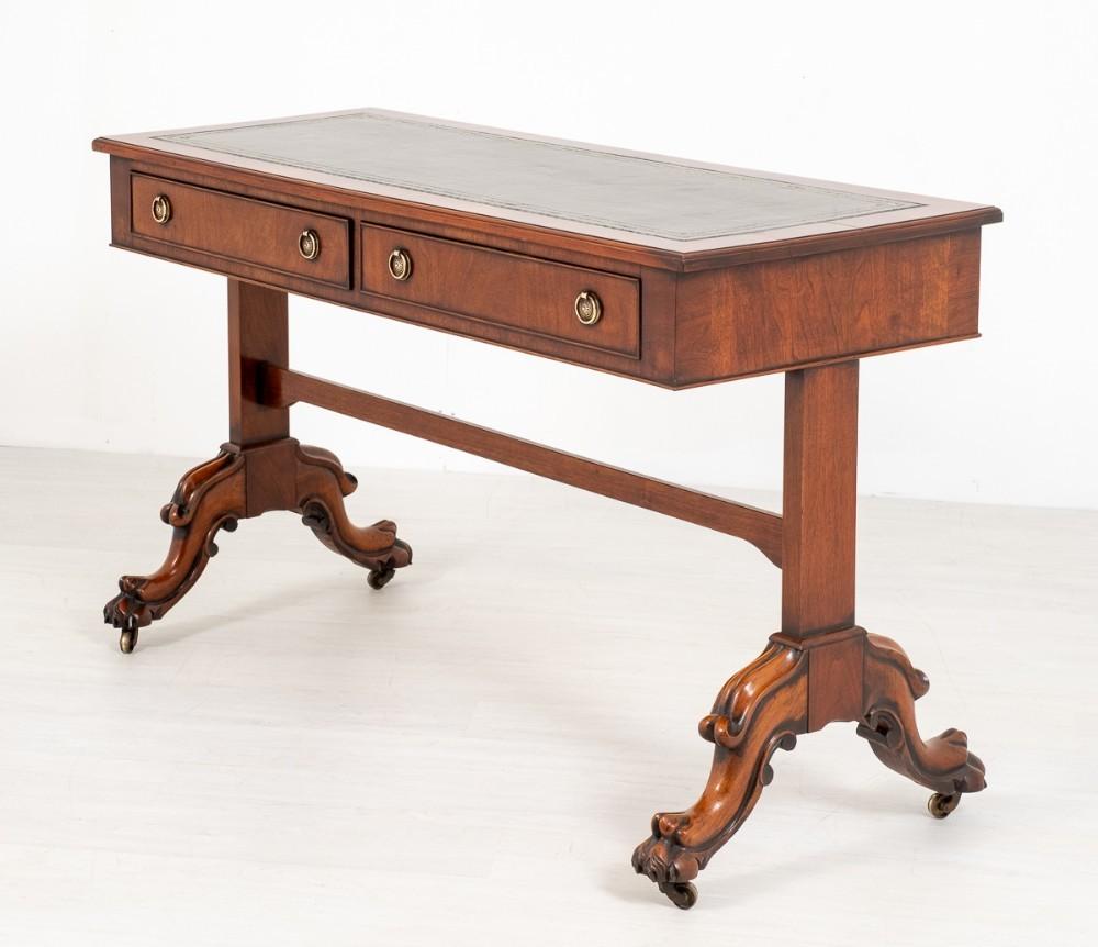 Viktorianische Bibliothek Tisch Schreibtisch Mahagoni