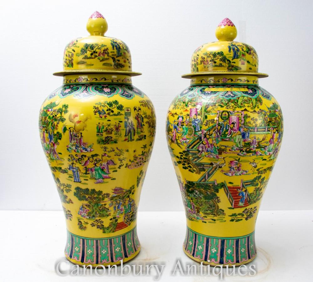 Chinesische Ingwergläser aus Porzellan von Canonbury Antiques