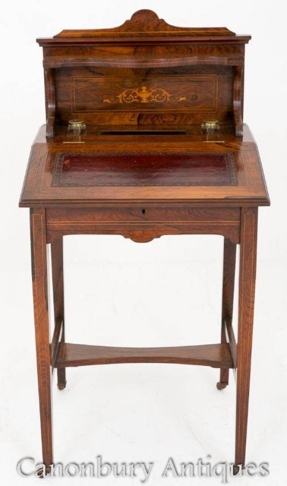 Victorian Ladies Writing Table Desk - Um 1880